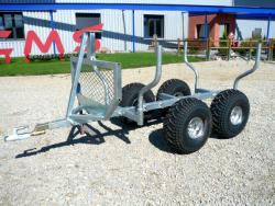 Chassis remorque grue quad