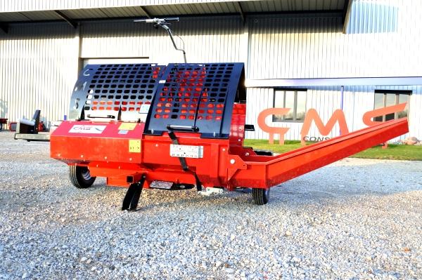 Combine A Bois De Chauffage - Combiné scieur fendeur CMS 380, matériel forestier CMS, Combiné scieur fendeur