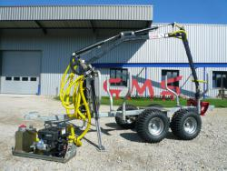 Remorque grue forestiere quad tracteur