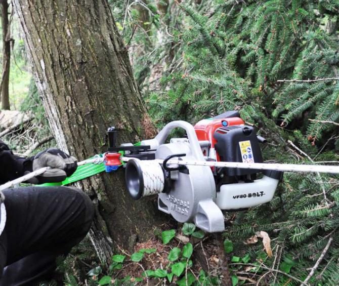 Treuil Forestier Portable Winch 224 Corde Mat 233 Riel